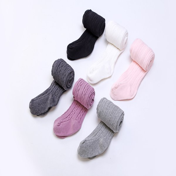 Baby Girls braids Jacquard Pantyhose Ins hot Babyighs Infants Cotton Tights Kids Cute leggings stocking 6colors