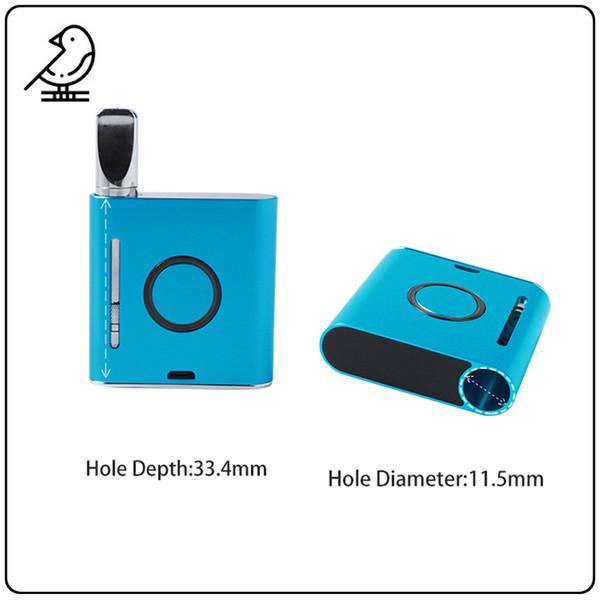 V-MOD Vape Mod Mod Vaping professionale 900mAh Batteria pre-riscaldamento a tensione variabile VMOD 510 Filettatura Vape Box Mod Batteria Vape