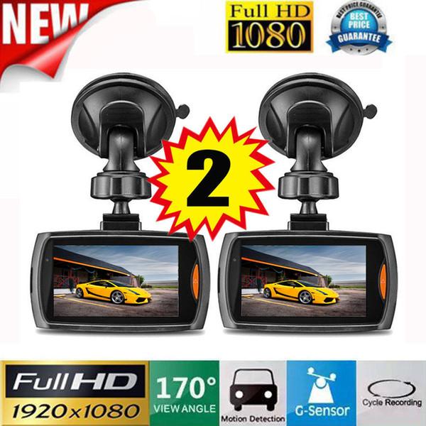 2x auto 1080P 2.2 HD pieno veicolo DVR della macchina fotografica del precipitare Cam Video G-sensore di visione notturna vidioregistrator per auto dash cam registrazione dual
