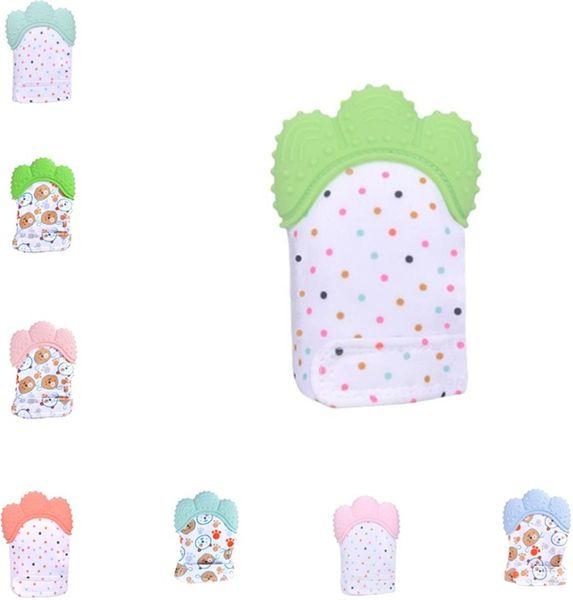 New Fashion baby glove anti-molar glove infant voice gloves Silica gel gloves baby phonate toys T6G6001