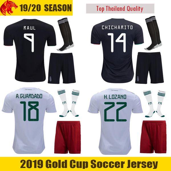 b18e89ea23a25 18 19 Mexico Uniformes de fútbol H.LOZANO 2018 2019 Mexico CHICHARITO  Conjuntos de fútbol