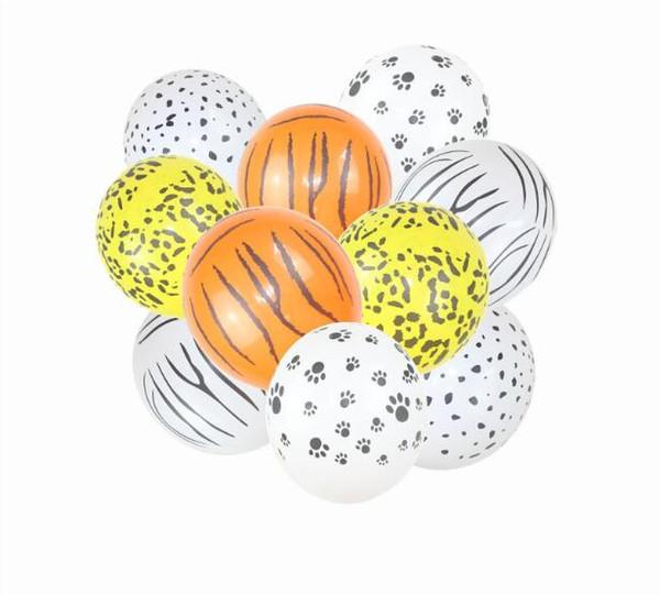 12 pouces Animal Ballons En Latex Baloons Balons Panthère Chien Animaux Dot Jungle Party Decor Enfant D'anniversaire Fournitures