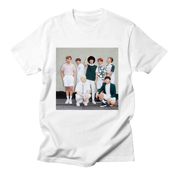 Лето хлопок Kpop футболка Bangtan мальчики Рэп Монстр футболки женщины с коротким рукавом смешной рок K-поп одежда с коротким рукавом женщины