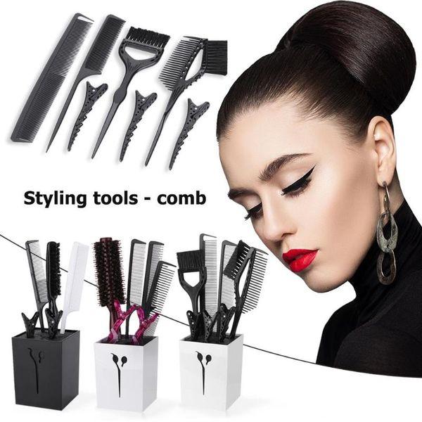 3 Stile Professionelle Haar-Styling-Clips Kämme Bürstengarnitur Salon Barbers Friseur Zubehör Tools Kit