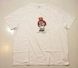 Polo Funny Big amp Tall Hombres 039 s White Polo Bear Funnyccer Crew NeNew S Camiseta