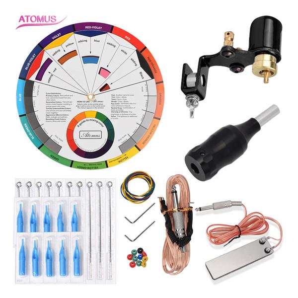 Kit profissional Pro Arma Kits Liner Shader Máquina Rotary Máquina de Tatuagem Completa Kit Gun Starters Caneta Set Pro Kits de Tatuagem