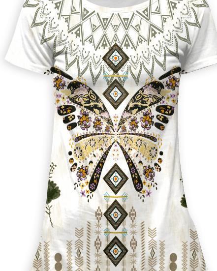 2019 new digital print beach dress fashionable women's dress Mature lady fashion with swallow tail collar