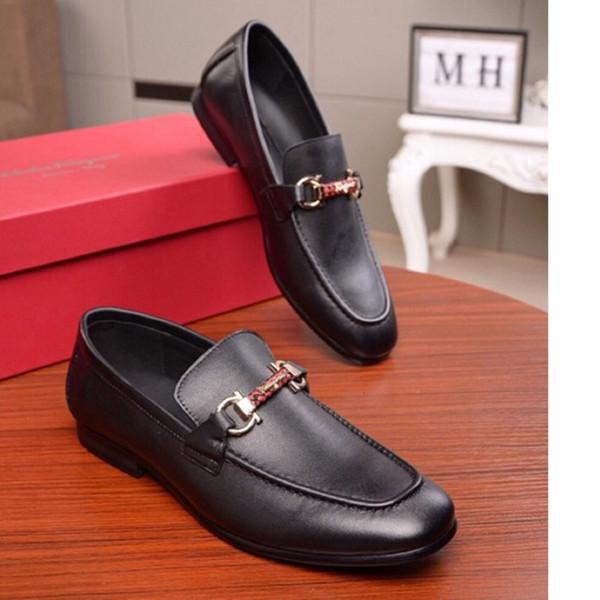 Hommes chaussures en cuir 2019 set mode matures et simple de chaussures en cuir RUE taille 38-44 texture délicate WSJ019 shoesx6 d'affaires