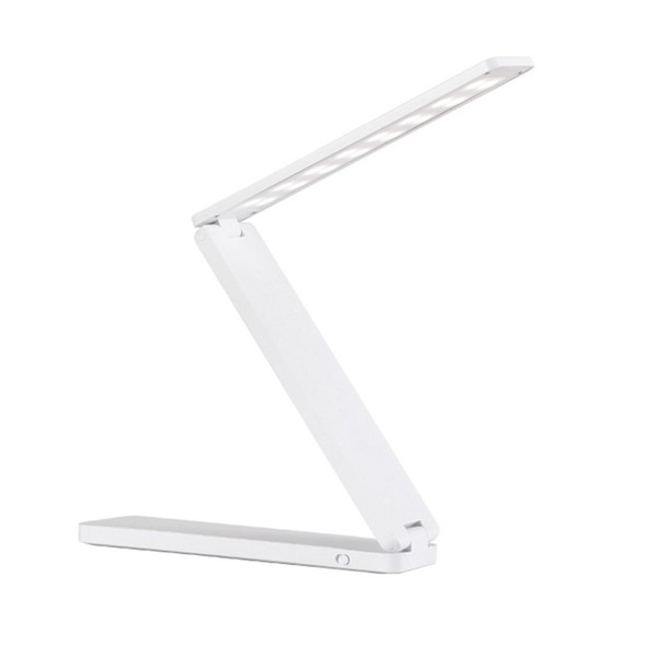 Hot Creative Desk Lamp LED Desk Reading Lamp Portable Table Folding Study 16 LED White Rechargeable Drop Shopping
