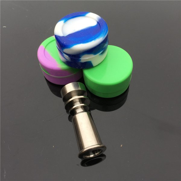 Kaliteli domeless titanyum petrol kuleleri titanyum çivi 10mm Tütün sigara için ücretsiz için domeless titanyum tırnak silikon kase ile ücretsiz