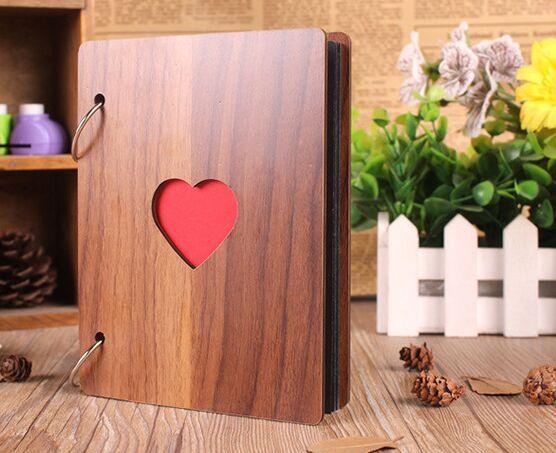 Album photo de scrapbooking avec page noire, cadeaux pour enfants, cadeaux de la Saint-Valentin, livre d'or pour mariage