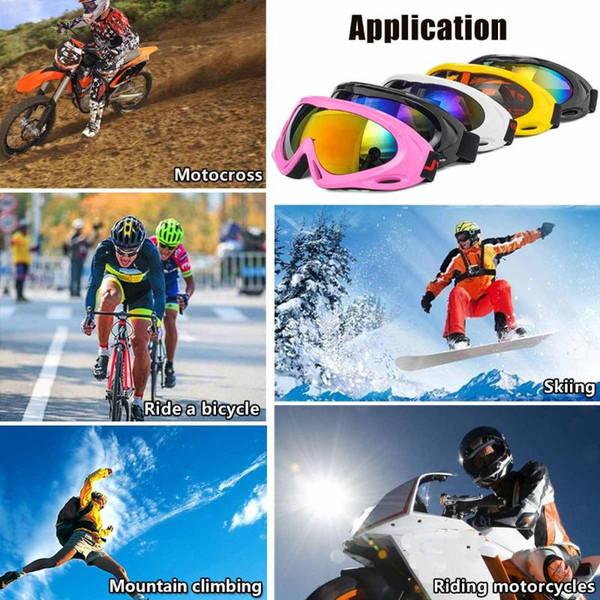 Toptan-Kayak Gözlük UV Koruma Spor Snowboard Karmobil Paten Kayak Gözlük Güneş gözlüğü Gözlük Kadınlar Erkekler