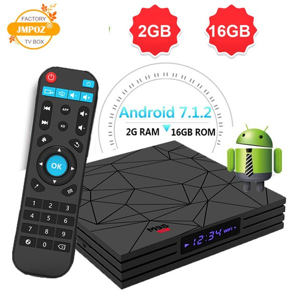 Tv box android 7.1 M9S W5 2GB RAM 16GB ROM Amlogic S905W chip 1080P Youtube free movie Streaming media player 4K IPTV Smart TV BOX