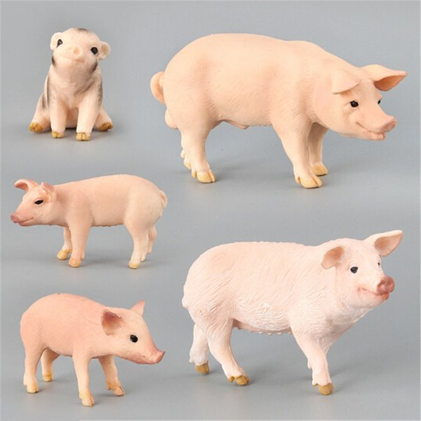 Pig Plastic Simulation Farm Animals Model Action & Toy Figures Toys for Children Giftt Collection