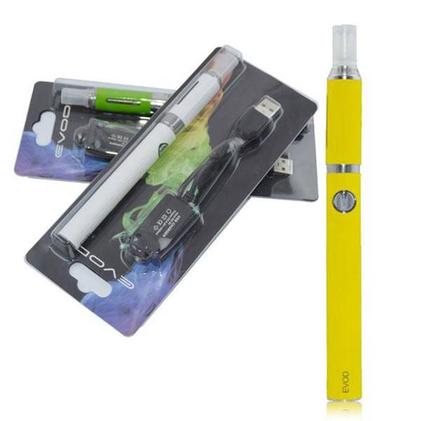 Evod MT3 blister para e vaporizador de líquidos vape pluma e kits de inicio de cigarrillos evod 510 baterías 650mAh / 900mAh / 1100mAh con cargador USB