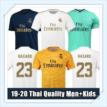 19/20 maillot de football du Real Madrid 2019 2020 r BENZEMA SERGIO RAMOS KROOS maillots de football pour enfants maillot real madrid