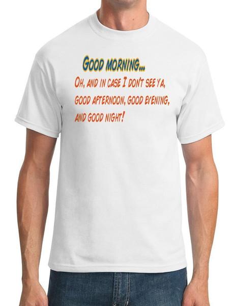 Доброе утро - - Трумэн шоу фильм вдохновил мужская футболка смешные бесплатная доставка мужская повседневная топ