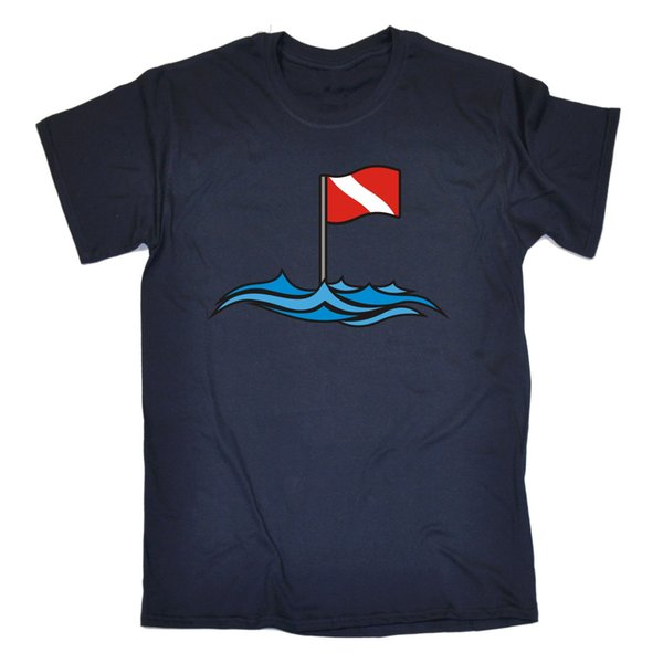Dive Site Buoy Flag Open Water MENS T-SHIRT birthday gift top scuba diving Brand shirts jeans Print Classic Quality High t-shirt