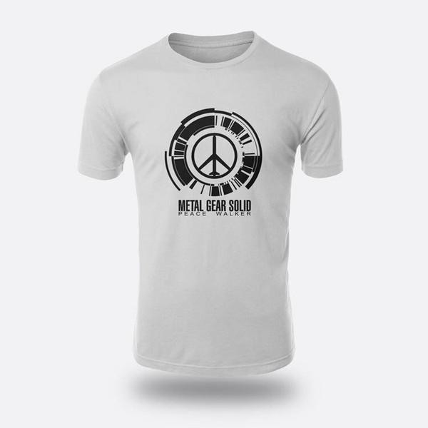 Peace Walker Metal Gear Solid Size S to XXXL White Tee Men's T-shirt