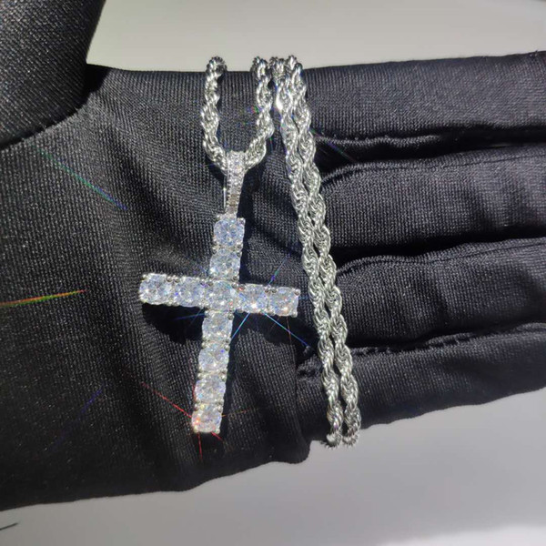 Argento con catena in acciaio da 20 pollici