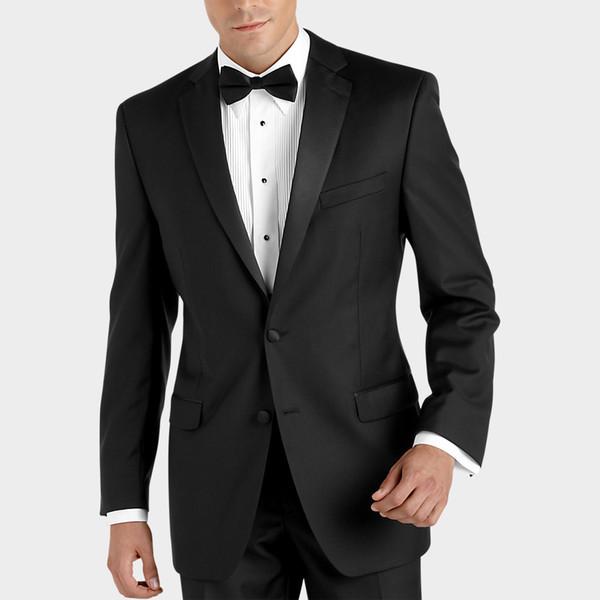 Black Tuxedos Custom Made Beckham Red Carpet Dresses for Men Fine Mens Wedding Suits With Pants Satin Black Lapel Beach Garden Best groom