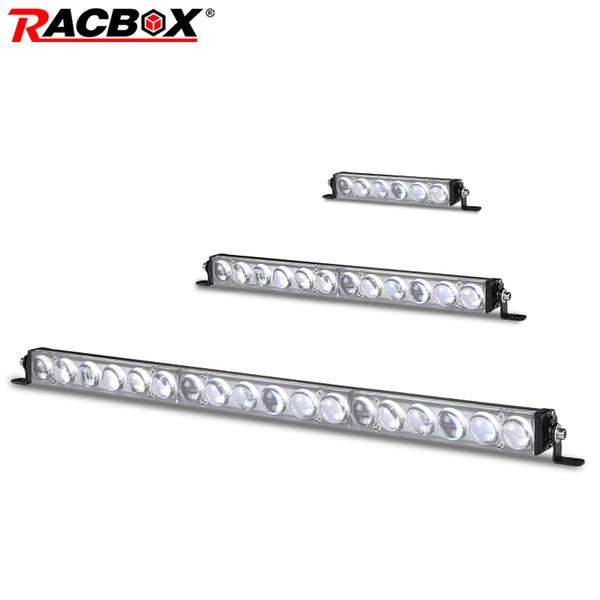 Nuevo 7 pulgadas 13 pulgadas 19 barra de luz led delgada 4D Lente de una fila 6000K Haz de punto blanco para Off Road barco 4x4 camión SUV UTV ATV