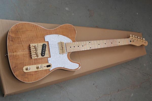 Оптовая новый стиль Telecaster гитара Ameican стандартная теле электрогитара с золотисто-желтым золотом аксессуары гитара