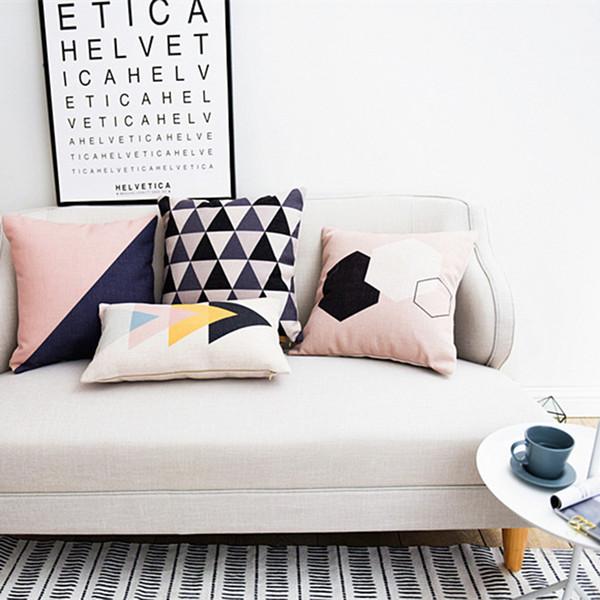 Fresh lettere geometriche nordici Elk cuscino cuscino, federa di lino, cuscini del divano di casa Cuscini decorativi