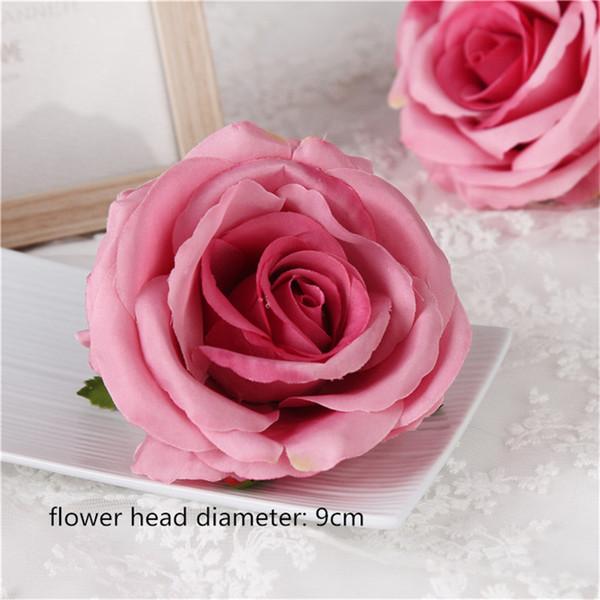 9cm-4 장미 꽃 머리