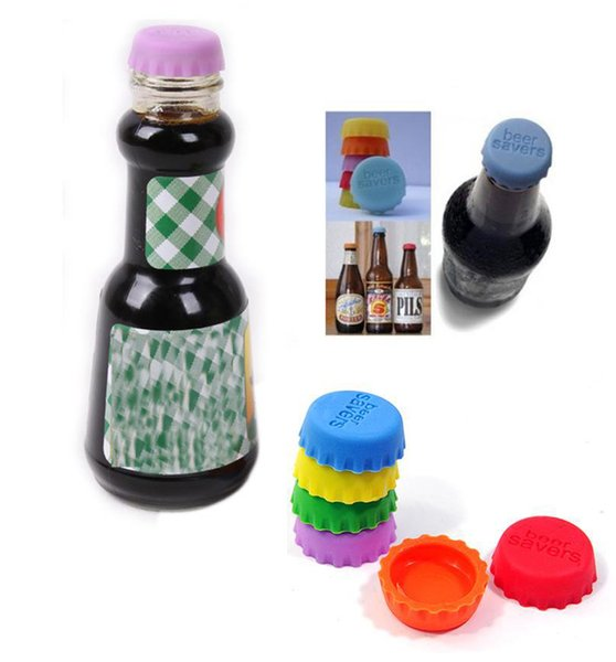Silicone bottle caps candy colors set keep beer fresh wine stopper wine bottle cover kitchen gadget 1500pcs