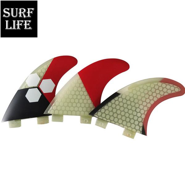 New design surfing thruster fiberglass honeycomb surf fins medium size G5 Tri fin set FCS base surfboard fins