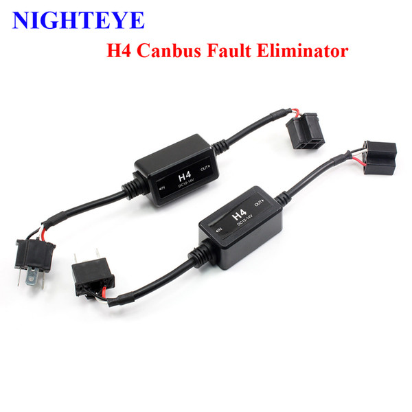 1 pair h4/h7 led light canbus wiring harness adapter led headlamps warning  canceller automotive