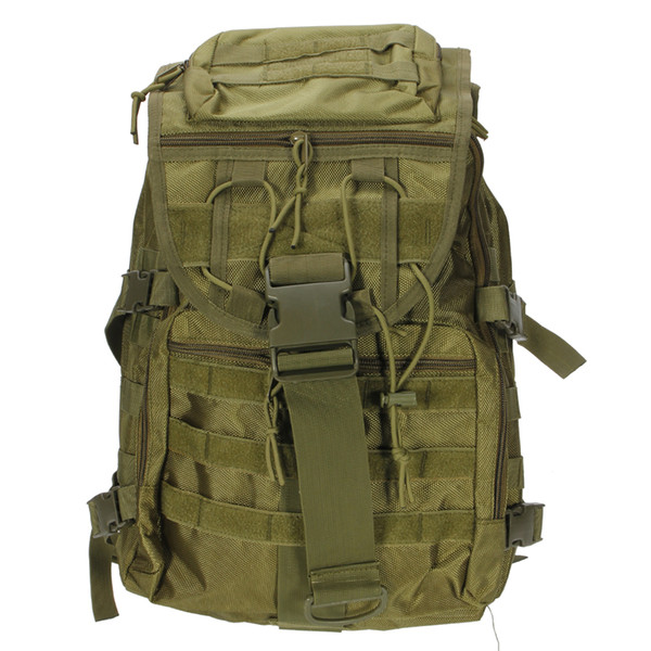 X7 Outdoor Multi-functional Oxford Cloth Tactical Backpack 35L Army Green