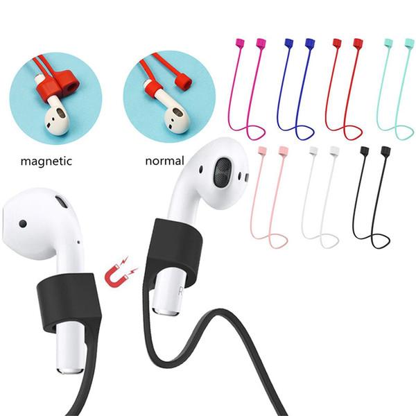 Manyetik Anti-kayıp Askı Airpods Için 1 2 Silikon Halat İpi Hattı Apple iPhone Hava Pod Için Bluetooth Kablosuz Kulaklık Döngü