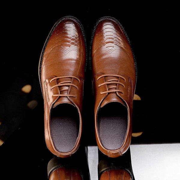casul deri aşınmaya dayanıklı kauçuk taban% 100 inek deri üst dantel yukarı makosenler MS29 erkek ayakkabıları