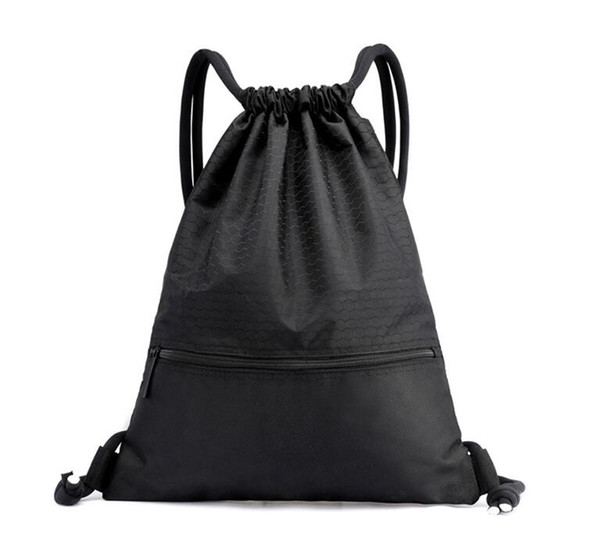 unisex men women outdoor Drawstring backpack bag portable girls school packs waterproof camping traveling shoulder bags workout shoes pouch