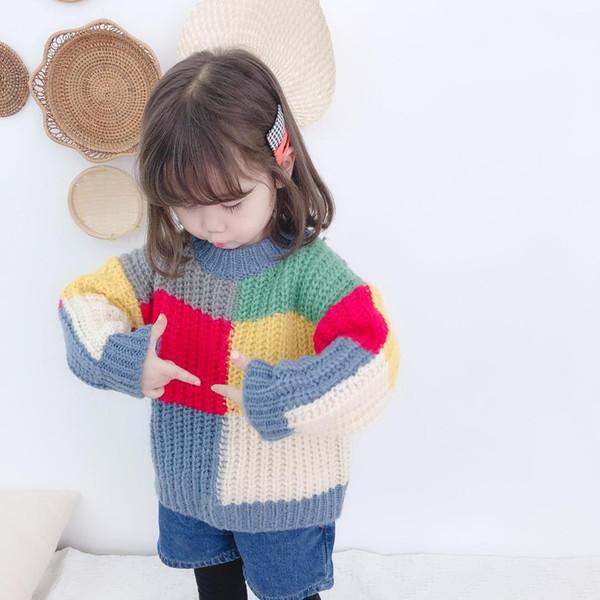 Maglione invernale per ragazze Maglione a maniche lunghe Maglione per bambini Pullover a maniche lunghe per bambino Vestiti per bambina Vestiti per bambina