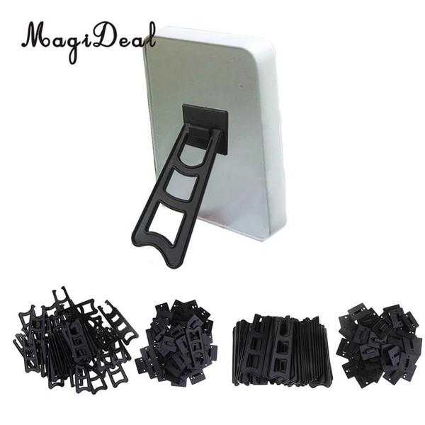 Magideal 50pcs Cavalletti in plastica Photo Frame Stand / supporti per visualizzare immagini o altri oggetti in occasione di matrimoni, decorazioni per la casa, tavoli J190716