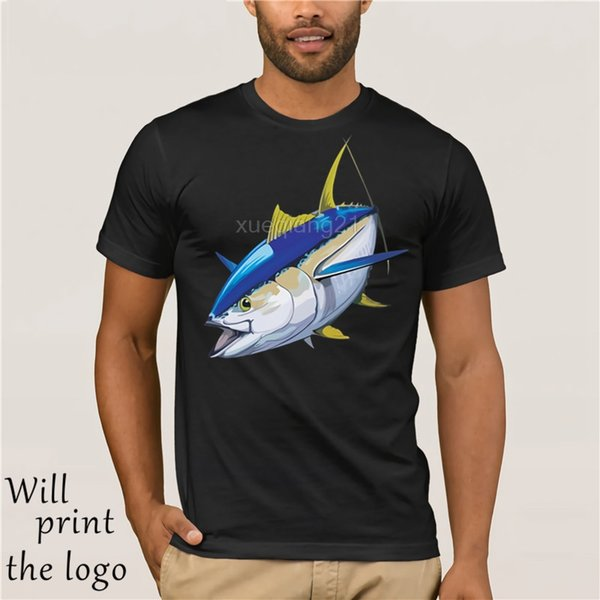 Los precios calientes de la camiseta de atún de aleta amarilla camiseta de algodón al por mayor de los hombres al por mayor de alta calidad superior Tee precio barato 100% camiseta de algodón