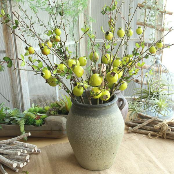 Faux Bouquet de fleurs artificielles Fruit, Baies Grenade Jardin Décoration florale pour la maison de soirée de mariage Décoration de Noël