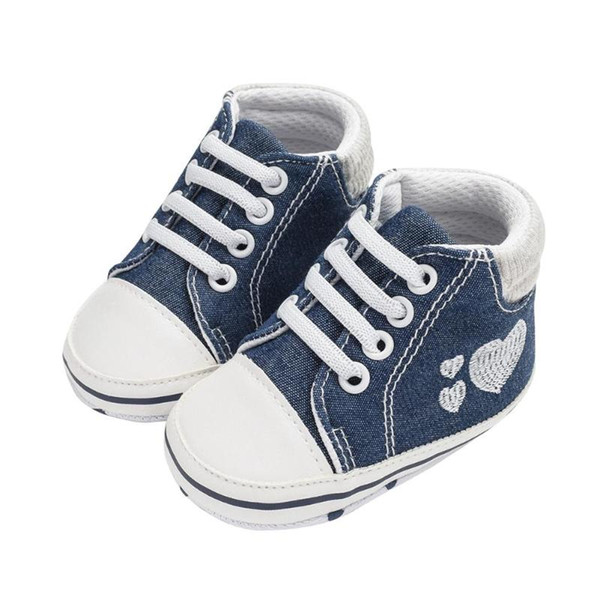 2019 Baby Shoes Newborn Boys Girls First Walkers Canvas Shoes Sports Sneakers Infant Toddler Soft Sole Anti-slip Baby New