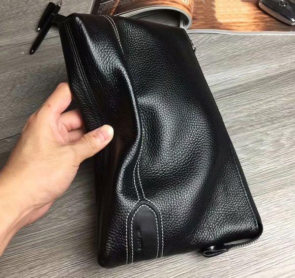 Men Bag Leather Long Wallets Large Capacity Brand Man Clutch Bag Black Business Male Purse Zipper Handy bag Carteras