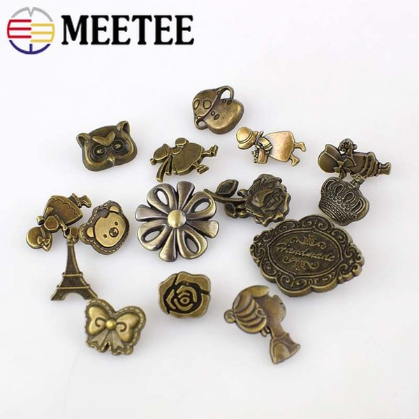 Solid Brass Metal Snap Button Snap Fastener Wallet Decorative Buttons Sewing Press Studs DIY Leather Craft