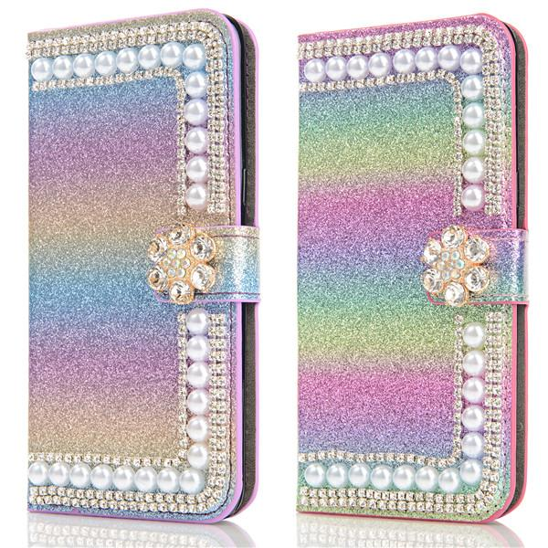 PU leather wallet phone case mobile covers for samsung s10 ,bling phone case for samsung galaxy s10 full covers