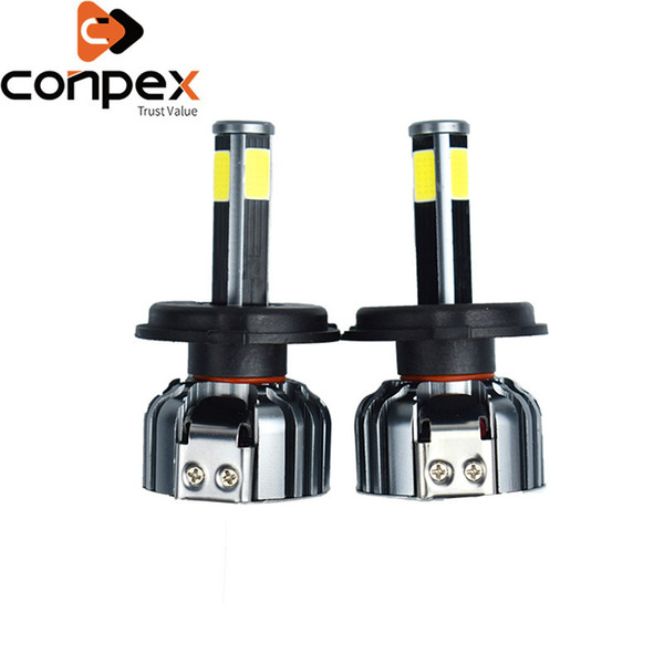 new 2pcs car headlight bulbs led h4 9003 h7 led canbus car lights two ways vortex air cooling system four sided lamp beads