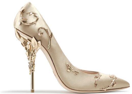 Ralph Russo, oro rosado, color burdeos, zapatos cómodos de diseño para novias de boda, mancha de seda, eden, zapatos de tacones para la fiesta de la noche, zapatos de baile