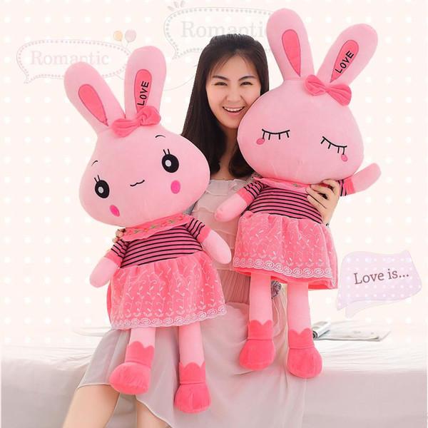 Coniglio Pink Love Peluche da collezione Peluche Giocattoli Cuscino Decorazione per auto Simpatici Regali per San Valentino Bambole di giocattoli caldi