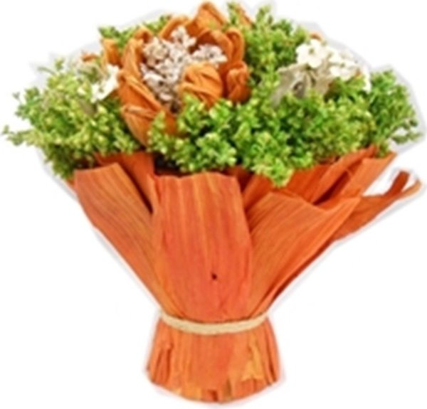 Allmode Decorative Orange Flower Bouquet Wrapped in Allmo Ship from Turkey HB-000833821