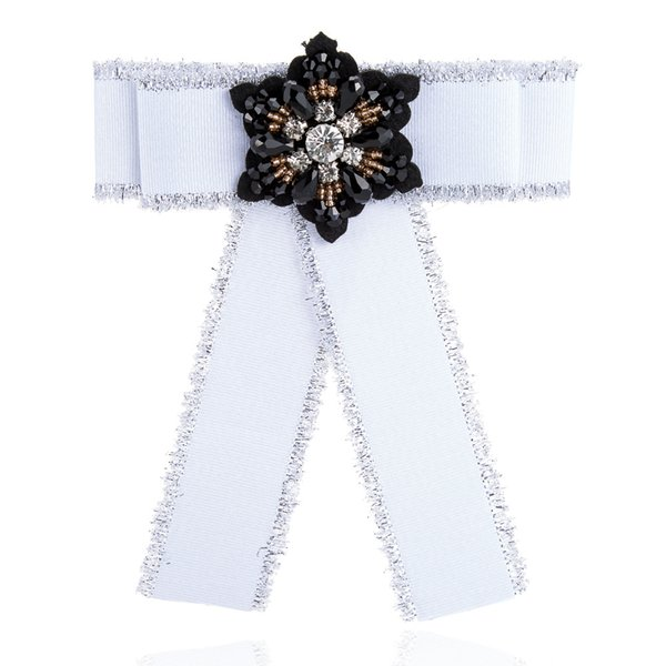Europe and the joker crystal diamond fabric tie brooch brooches burrs bow brooch pin female restoring ancient ways