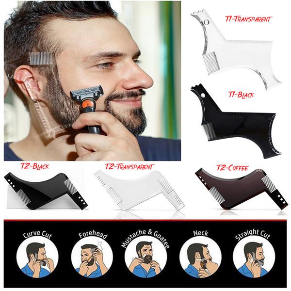 Nueva mejor plantilla de modelado de barba Peine de barba Bro Herramienta de modelado Sex Man Gentleman Trim Template Corte de cabello Moldeado de cabello